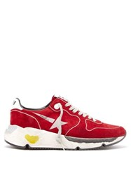 Golden Goose Deluxe Brand Running Sole Low Top Suede Trainers Red
