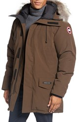 Canada Goose Men's 'Langford' Slim Fit Down Parka With Genuine Coyote Fur Trim Grizzly Brown