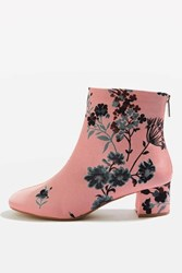 Topshop Blooming Floral Ankle Boots Pink