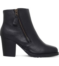 Kurt Geiger Sweep Leather Ankle Boots Black