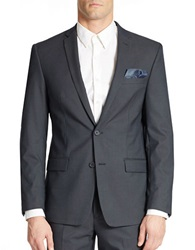 William Rast Two Button Blazer Navy