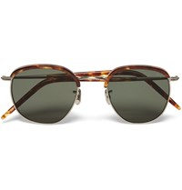Eyevan 7285 Square Frame Tortoiseshell Acetate And Metal Sunglasses Brown