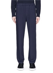 Oamc Zip Pocket Virgin Wool Blend Pants Blue