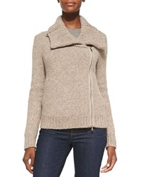 Christopher Fischer Ledella Knit Two Way Zip Moto Jacket Women's
