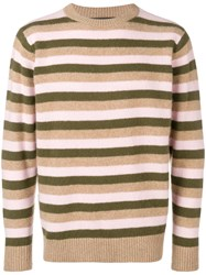 The Elder Statesman Inch Stripe Sweater Neutrals