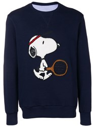 Lc23 Scoopy Embroidered Sweatshirt Blue