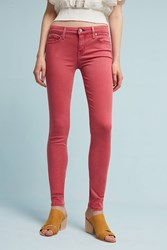 Anthropologie Level 99 Liza Mid Rise Skinny Jeans Medium Pink