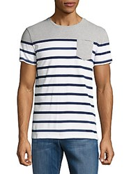 Superdry Striped Cotton Tee Grey