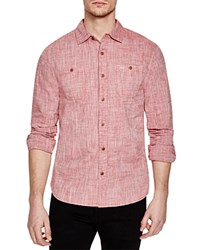 Jachs Ny Chambray Regular Fit Button Down Shirt Red