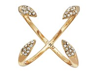 Rebecca Minkoff Pave Claw Ring Gold Crystal Ring