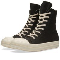 Rick Owens Drkshdw Canvas High Sneaker Black