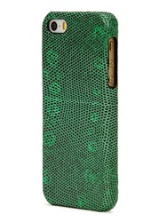 The Case Factory Iguana Effect Leather Iphone 5 5S Case Green