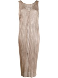 Issey Miyake Pleats Please By Woven Tunic Top Neutrals