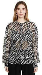 Anine Bing Arrow Shirt Cream Zebra