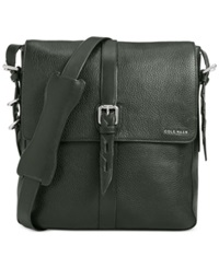 Cole Haan Pebbled Leather North South Messenger Bag Forest