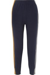 Sjyp Striped Knitted Track Pants Navy