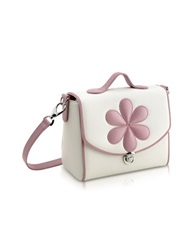 Pineider Pink Flower Snack Bag White
