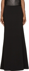 Givenchy Black Double Cr Pe Long Skirt