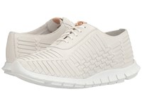 Cole Haan Zerogrand Huarache Oxford Optic White Leather Women's Lace Up Casual Shoes