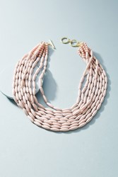 Anthropologie Perrie Layered Bib Necklace Pink