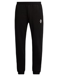 Marcelo Burlon Paco Cotton Jersey Track Pants Black White