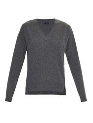 Joseph V Neck Merino Wool Sweater