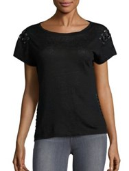 Generation Love Oliver Side Lace Up Tee Black