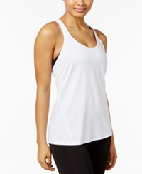 Ideology Rapidry Heathered Racerback Performance Tank Top Only At Macy's Bright White