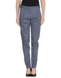 Peacock Blue Casual Pants Slate Blue