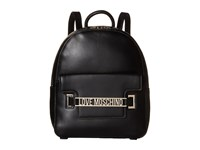 Love Moschino Letter Plate Mini Backpack Black Backpack Bags