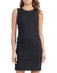 Lauren Ralph Lauren Petite Cotton Blend Shift Dress Asphalt
