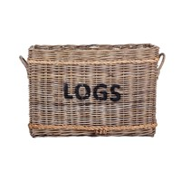 Garden Trading Rope And Rattan Log Basket