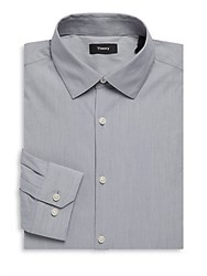 Theory Dover Cotton Long Sleeve Dress Shirt Night
