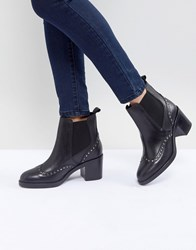 Carvela Stop Leather Studded Ankle Boots Black
