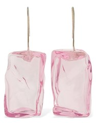 Maryam Nassir Zadeh Ice Cube Glass Earrings Pink