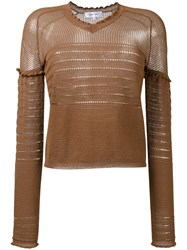 Carven Lingerie Knit Jumper Brown