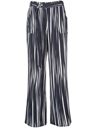 Nicole Miller Wide Leg Trousers Black