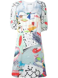 Tsumori Chisato Balloon Sleeve Print Dress Multicolour