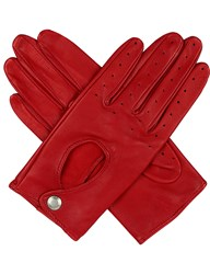 Dents Leather Keyhole Driving Gloves Berry