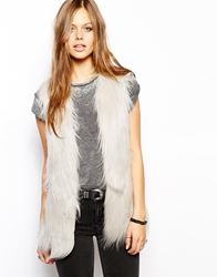 Unreal Fur Yeti Gilet Grey