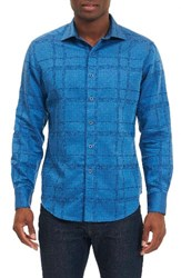 Robert Graham Men's Morley Sport Shirt Light Blue