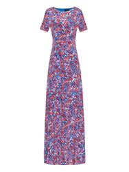 Saloni Donna Printed Silk Crepe De Chine Dress