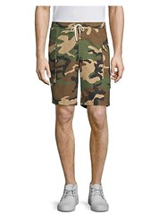 Ovadia And Sons Tribeca Cotton Camo Shorts