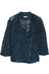 Michael Van Der Ham Sian Cotton Guipure Lace Jacket Blue