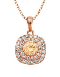Lord And Taylor Multi Stone Pendant Necklace Pink