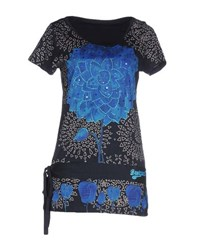 Desigual Topwear T Shirts Women Dark Blue