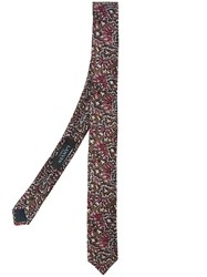 Lanvin Diagonal Splatter Tie Brown