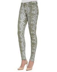 Cj By Cookie Johnson Joy Python Foil Print Leggings Green