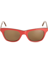 Selima Optique Chandler X Selima Rectangular Sunglasses Red
