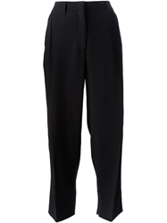 Incotex Origami Crepe Trousers Black